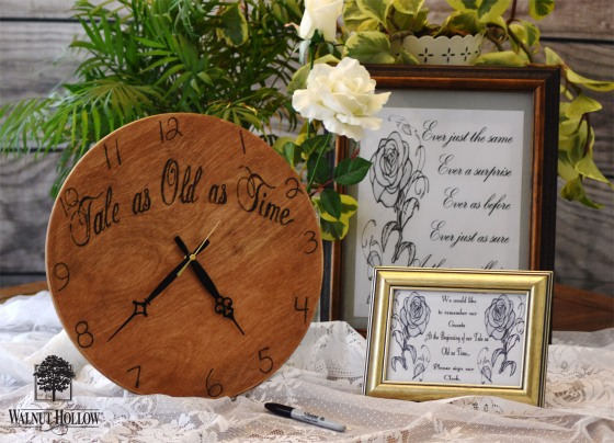 Walnut Hollow Wedding Clock Guest Book