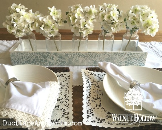 06 - Walnut Hollow rustic wood ledge wedding centerpiece copy