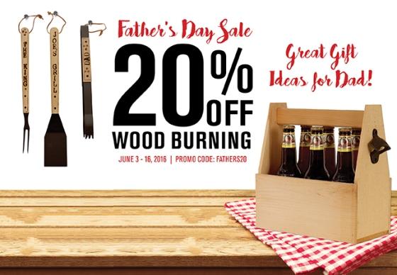 Wood Burning Sale