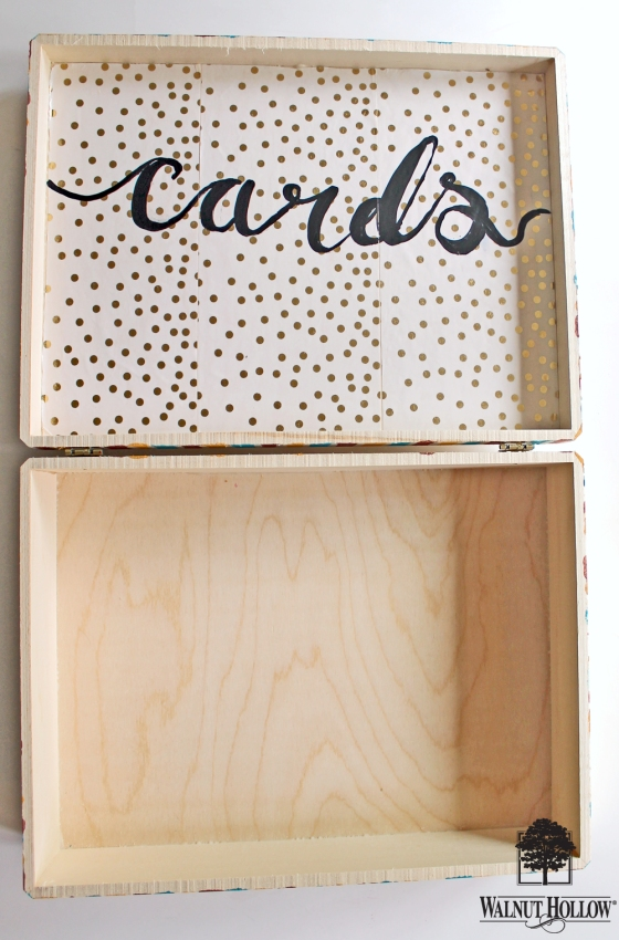 wh wood burned wedding card box diy (5)