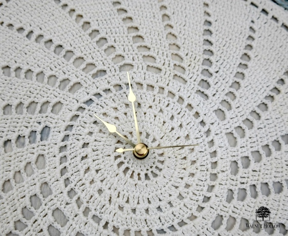 Doily Clock Hands by Dana Tatar for Walnut Hollow