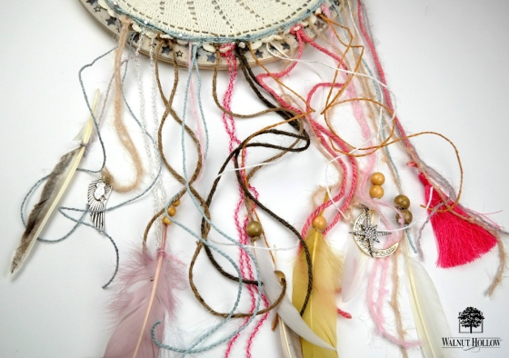 Dream Catcher Clock Face Closeup by Dana Tatar for Walnut Hollow