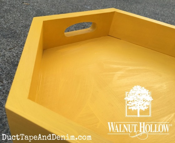 Walnut Hollow wood hexagon tray DIY