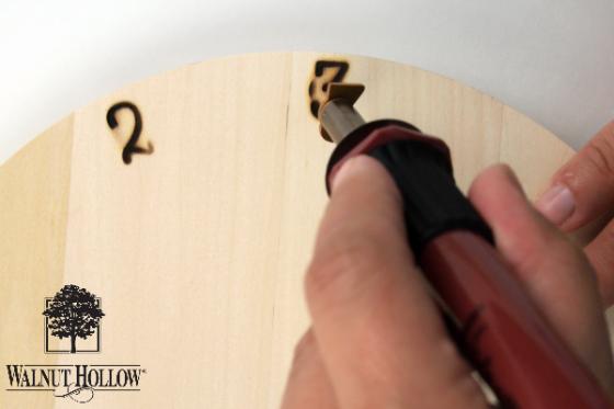 Burning Pinwheel Clock
