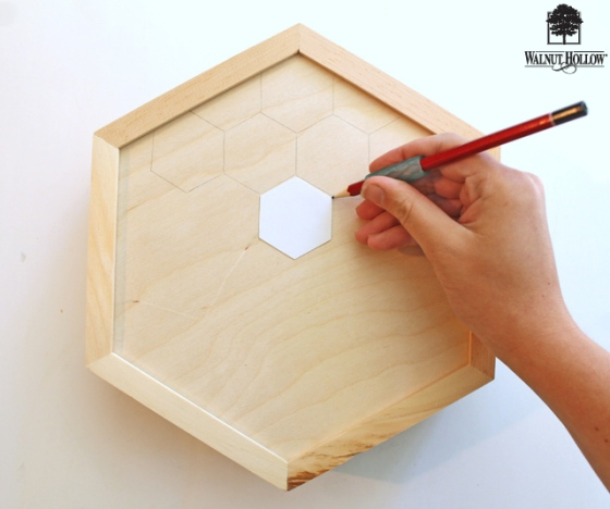 diy wood hexagon clock (2)