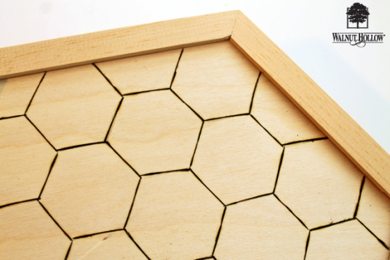 diy wood hexagon clock (3)