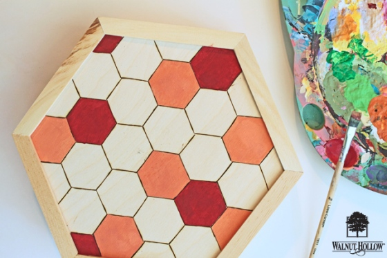 diy wood hexagon clock (4)