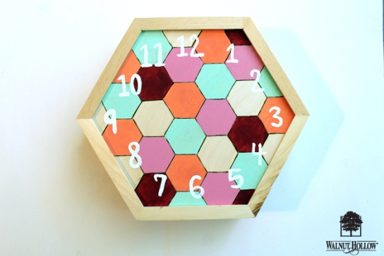 diy wood hexagon clock (5)