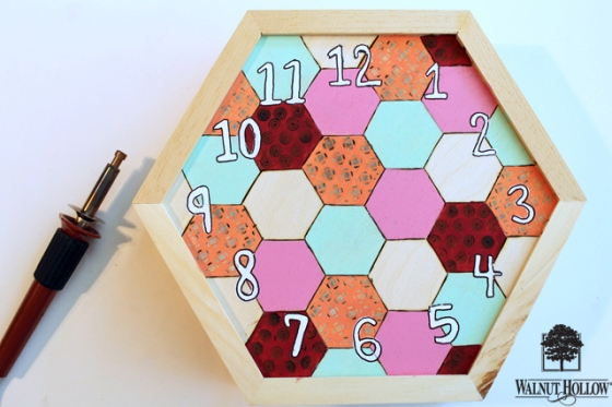 diy wood hexagon clock (6)