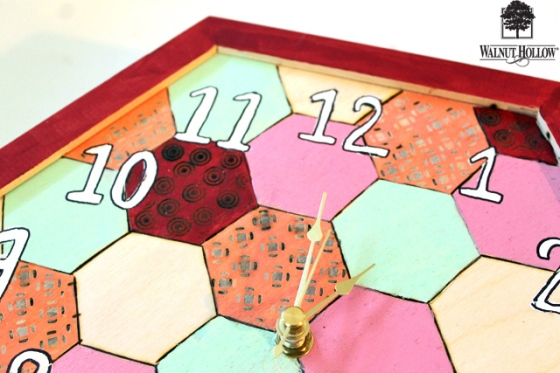 diy wood hexagon clock (7)