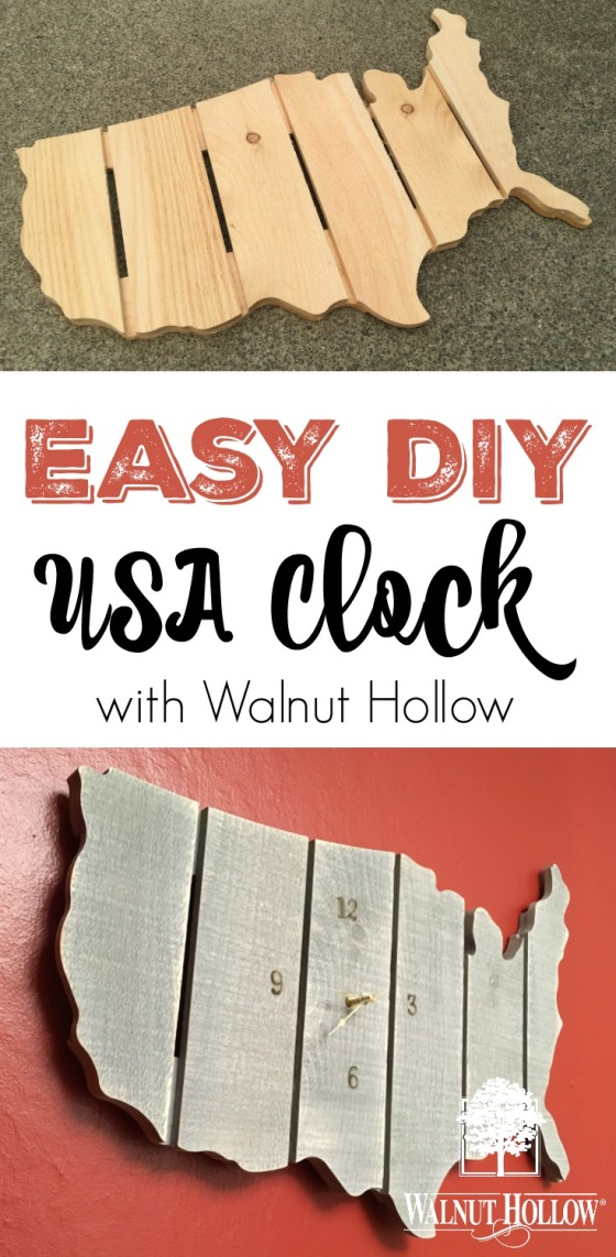 Easy DIY USA clock