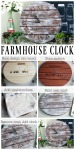 Make your own farmhouse clock with these super simple instructions!