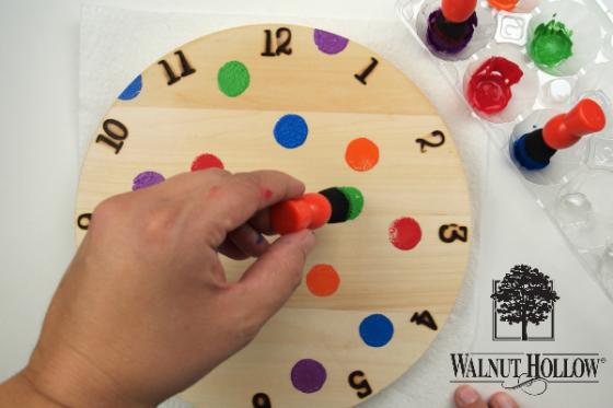 Paint Pinwheel Clock