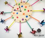 Pinwheel Clock Horizontal