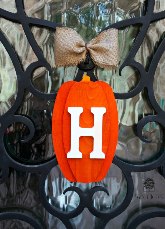 WH pumpkin door decor