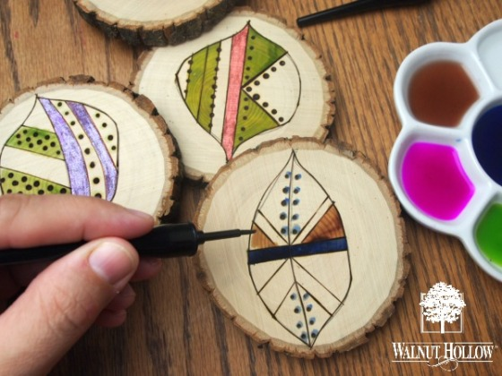 Coloring Wood Burned Designs