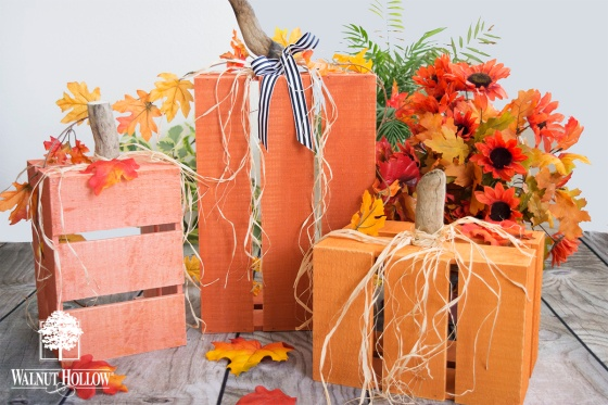 Walnut Hollow Rustic Crate Pumpkins