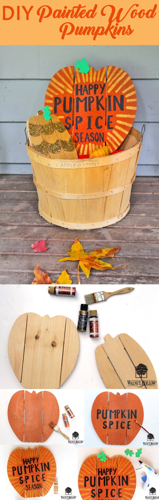 diy pumpkin spice decor pin