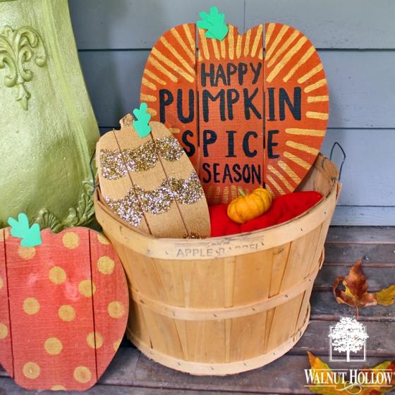 diy pumpkin spice decor square