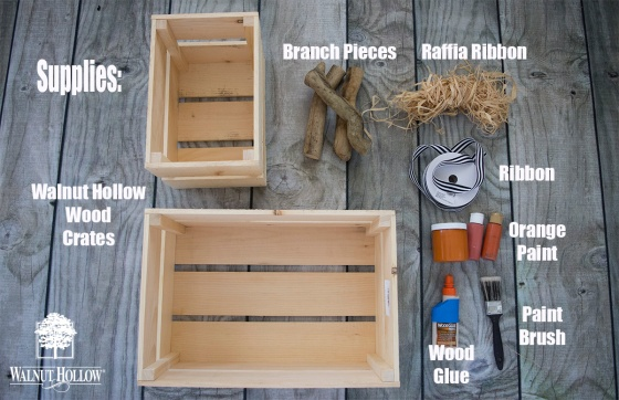 Pumpkin Porch Crate - Supplies
