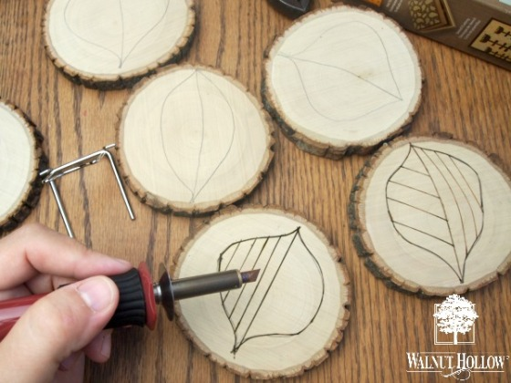 Wood Burning Coasters