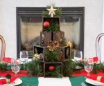 Mini Crate Christmas Tree table centerpiece