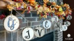 Give Thanks Wood Slice Garland