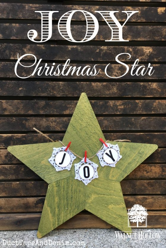 JOY Christmas star DIY wood