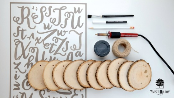 DIY Reversible Wood Slice Garland Supplies