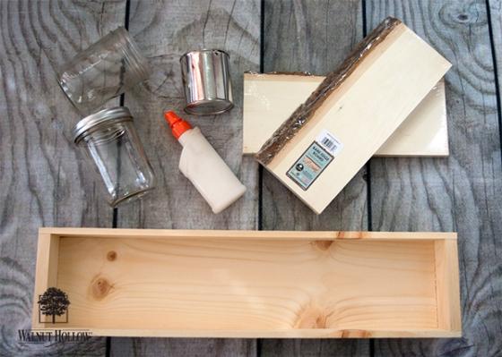Rustic Ledge Organizer Materials