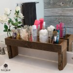 Rustic wood ledge organizer