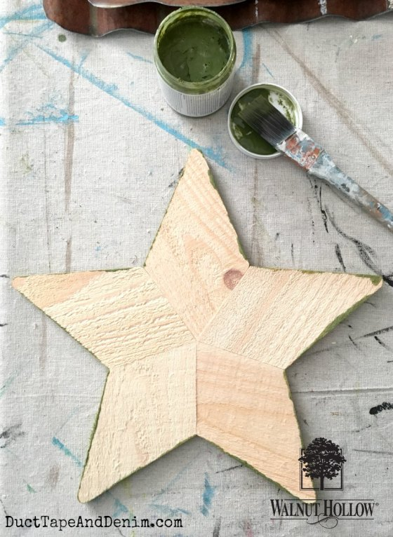 Walnut Hollow wood star