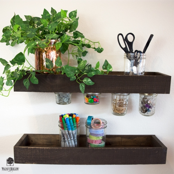 Rustic Wood Ledge Shelves