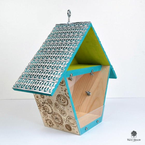Birdhouse Box Bird Feeder by Dana Tatar