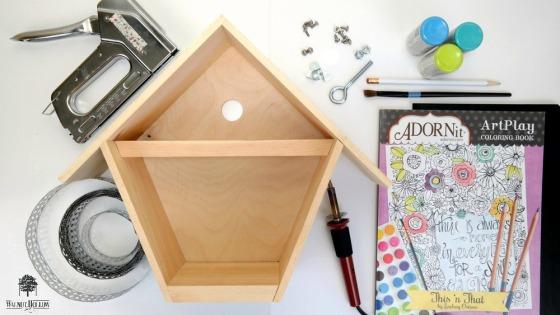 Birdhouse Box Bird Feeder Supplies by Dana Tatar