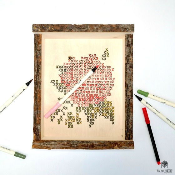 Faux Cross-Stitch Coloring