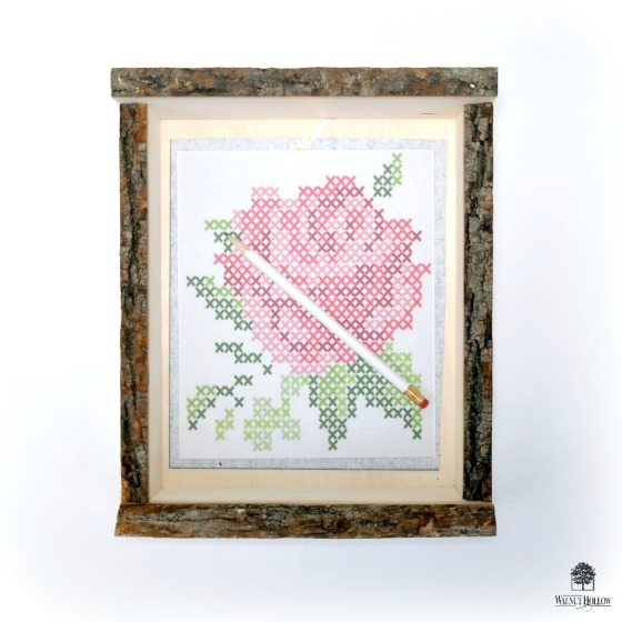 Faux Cross-Stitch Carbon Paper Transfer