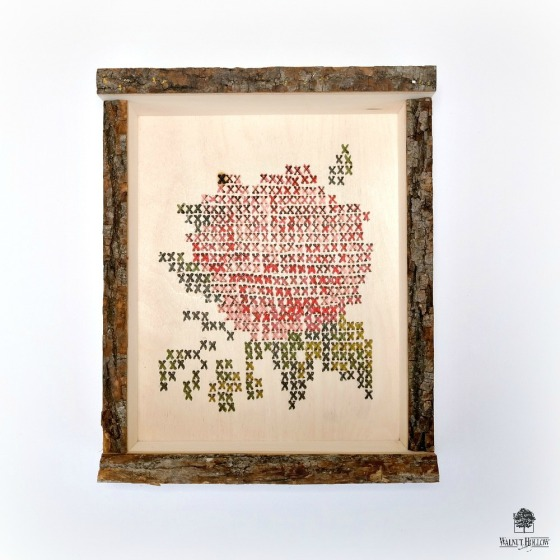Faux Cross-Stitch Hygge Box by Dana Tatar