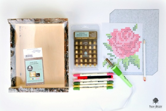 Faux Cross-Stitch Hygge Box Supplies