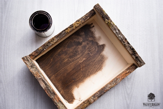 Stain the wood boxes