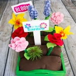 Serving Tray Felt Flower Play Garden
