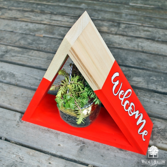Learn how to turn a Triangle Shelf (by @walnuthollow) into a modern planter using this tutorial by @punkprojects !