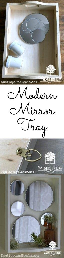 Modern Mirror Tray for Walnut Hollow