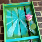 Rustic Pallet Tray Wall Art with Vase Closeup by Dana Tatar for Walnut Hollow