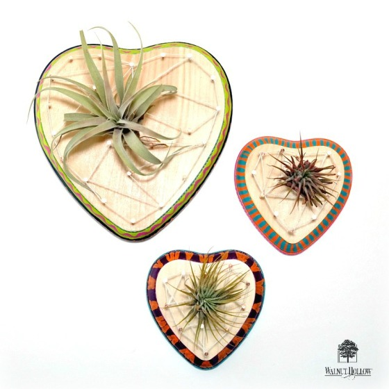 String Art Air Plant Hearts by Dana Tatar for Walnut Hollow