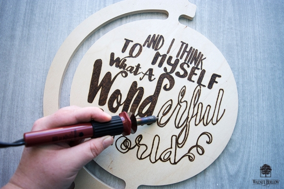 How to get the hand lettered look with wood burning fill in the outlined letters spiritdancerdesigns Images