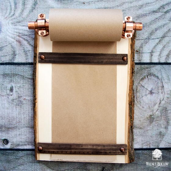 Rustic Industrial Farmhouse Grocery List with a Basswood Country Plank