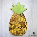 DIY How to wood burn a Patchwork Pineapple with the Walnut Hollow Creative Versa-Tool Wood burner.