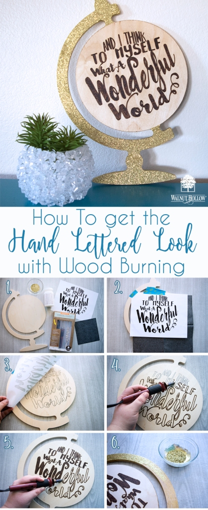 The easy way to get the Hand Lettered wood burned look.