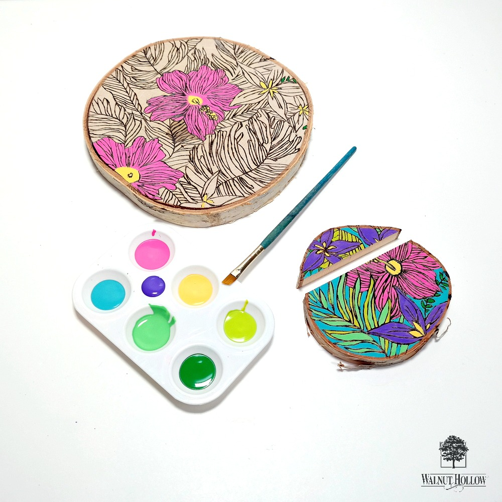 How to Paint Wood Burned Designs by Dana Tatar